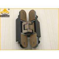 China Silver Black Champagne Invisible Door Hinges Load 80 Kg Length 160mm Hinge wholesale