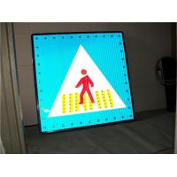 China Solar Powered Warning Signs Pedestrian Crossing Light Aluminum Board wholesale