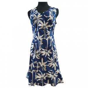 China Ladies Flounce Hem Floral Dress Knee Length on sale
