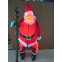 China Christmas Gift 90cm santa claus with a crutch wholesale