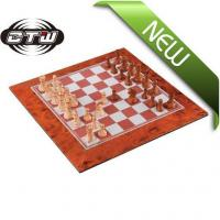 China Non magnetic Mahogany Chess wholesale