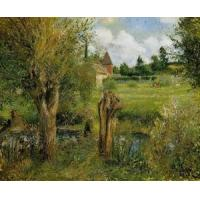China Impressionist(3830) The_Banks_of_the_Epte_at_Eragny wholesale