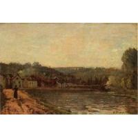 China Impressionist(3830) The_Banks_of_the_Seine_at_Bougival wholesale