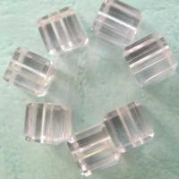 Glass Beads Lt.Rose Glass Cube