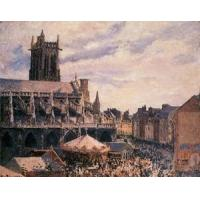 China Streets(103) The_Fair_by_the_Church_of_Saint-Jacques,_Dieppe wholesale