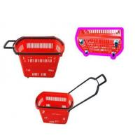 Baskets ... Product Name:Plastic shopping basket with 4 wheels(LS-100)