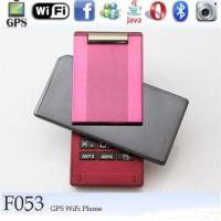 China F053 Quad Band Dual Card With Wifi Analog TV Java GPS Flip Mobile Phone wholesale