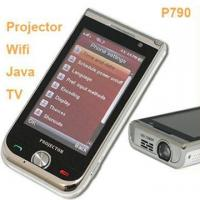 China P790 Dual Sim Card Dual Standby Cell Phone Projector WIFI Java TV Mobile Phone wholesale
