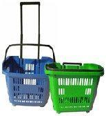 China Mobile Trolley Baskets With Casters wholesale