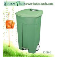China Wheeled Industrial Trash Can with Pedal wholesale