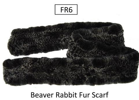 China Beaver Rabbit Fur Scarf