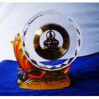 China Office gifts crystal clock wholesale