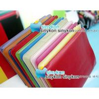 China wholesale 10pcs/lot Red New luxurious Leather Case for iPad+free shipping wholesale
