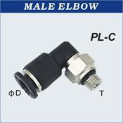Compact One Touch Tube Fittings Male Elbow