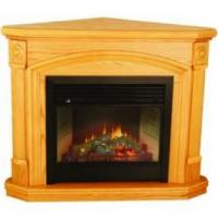 China Kensington Corner Oak Dual-Fuel Ventless Gas Fireplace wholesale