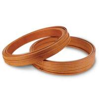 Self-bonding glass fiber wrapped mica tape covered rectangular copper wire
