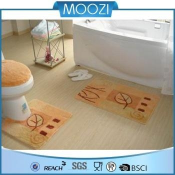 Bath Mat Absorbent Bath Rug Without Rubber Backing Of Moozi Home