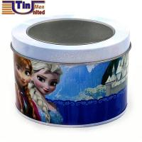China Small Oval Customized Design Watch Tin Canister with PET Window wholesale