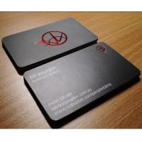 China XMT-P237 red foil stamping business card print & high class biz card wholesale