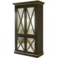 China Regency Armoire in Black w/Gold Gilding Baby Furniture on sale
