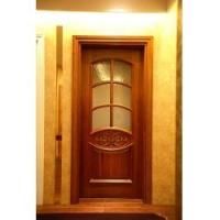 China Interior Solid Wooden Door with Glass on sale