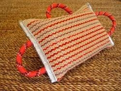 Quality Dog bite pad made of jute with 3 handles for sale