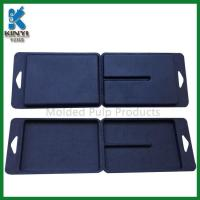 China Customized Black Color Biodegradable Fiber Pulp Molded Packaging Boxes wholesale