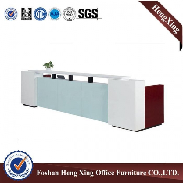 Quality High quality solid wood office counter desk front reception