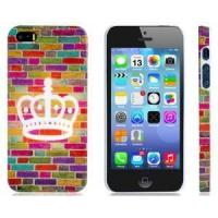 Colorful Brick Wall Print Plastic Protective Case for iPhone 5/5S