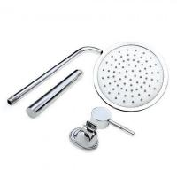 China Contemporary Chrome Brass Shower Faucet with 8 inch Showerhead Handshower wholesale