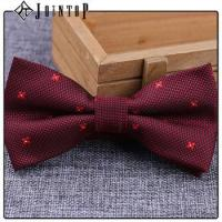 China stock low moq 10 extra long burgundy bow tie wholesale