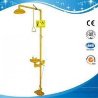 China SH712BF-Foot pedal Safety shower & eyewash station,Carbon steel,yellow color on sale