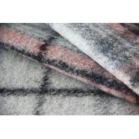 Classical Pink And Grey Tartan Fabric For Mens Colored Blazers 515G / M