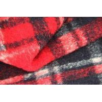 China Red And Blank Squares Classics Winter Coat Lining Fabric Scottish Tartan Material on sale