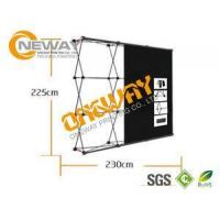 China New Design Pop Up Trade Show Displays Silver / Black For Advertising wholesale