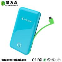 Buy cheap Ultra Thin Build-in Cable Power Bank 6000mAh With 2 USB Ports from wholesalers