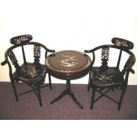 China Tea Table Set Solid Rosewood Tea Table Set, Mother of Pearl Inlaid Style on sale