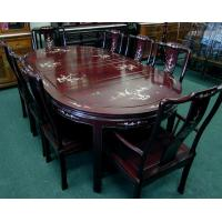 China Dining Room Solid Rosewood Dining Set, Mother of Pearl Inlaid Style on sale