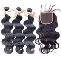 Closure and Blonde Brazilian Hair Weft