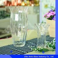 China Fashion Design Ribbed Glass Vase Wholesale For Wedding Centerpiece wholesale