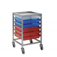 China Storage Trolleys Stainless Steel Trolley with 6 Trays wholesale