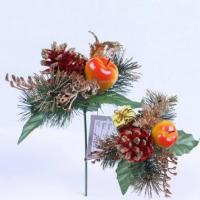 Wholesale Christmas pick Apple Pine cone Needle deocration Christmas pick from china suppliers