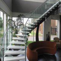 China Bent Stainless Steel Handrail Used For Indoor Curved Staircase PR-C37 wholesale