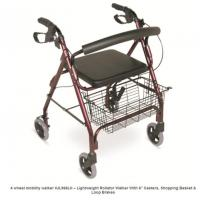 Wholesale Walking Aid Walker Rollator Aluminum Rollator from china suppliers