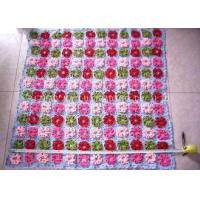 Purple And Pink Crochet Baby Security Blanket Roses Handcrafted Baby Blankets