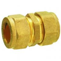 China Forged brass straight coupler cw614n brass compression fitting for copper pipes wholesale