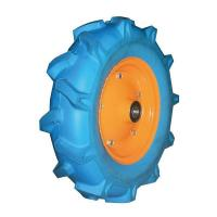 Buy cheap Flat Free PU Foam Wheel With Plastic Rim from wholesalers