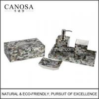 China Handmade Black Mother of Pearl Wholesale Bathroom Set wholesale