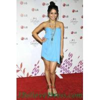 China Bow Vanessa Hudgens Strapless Casual Black Dress Short Celebrity wholesale