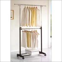 China 2 Tier Movable Garment Rack wholesale